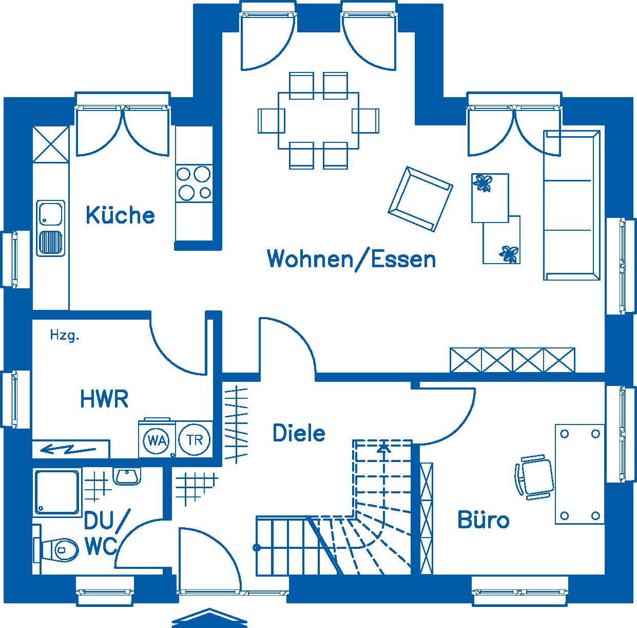 Grundriss Erdgeschoss EH 125 K