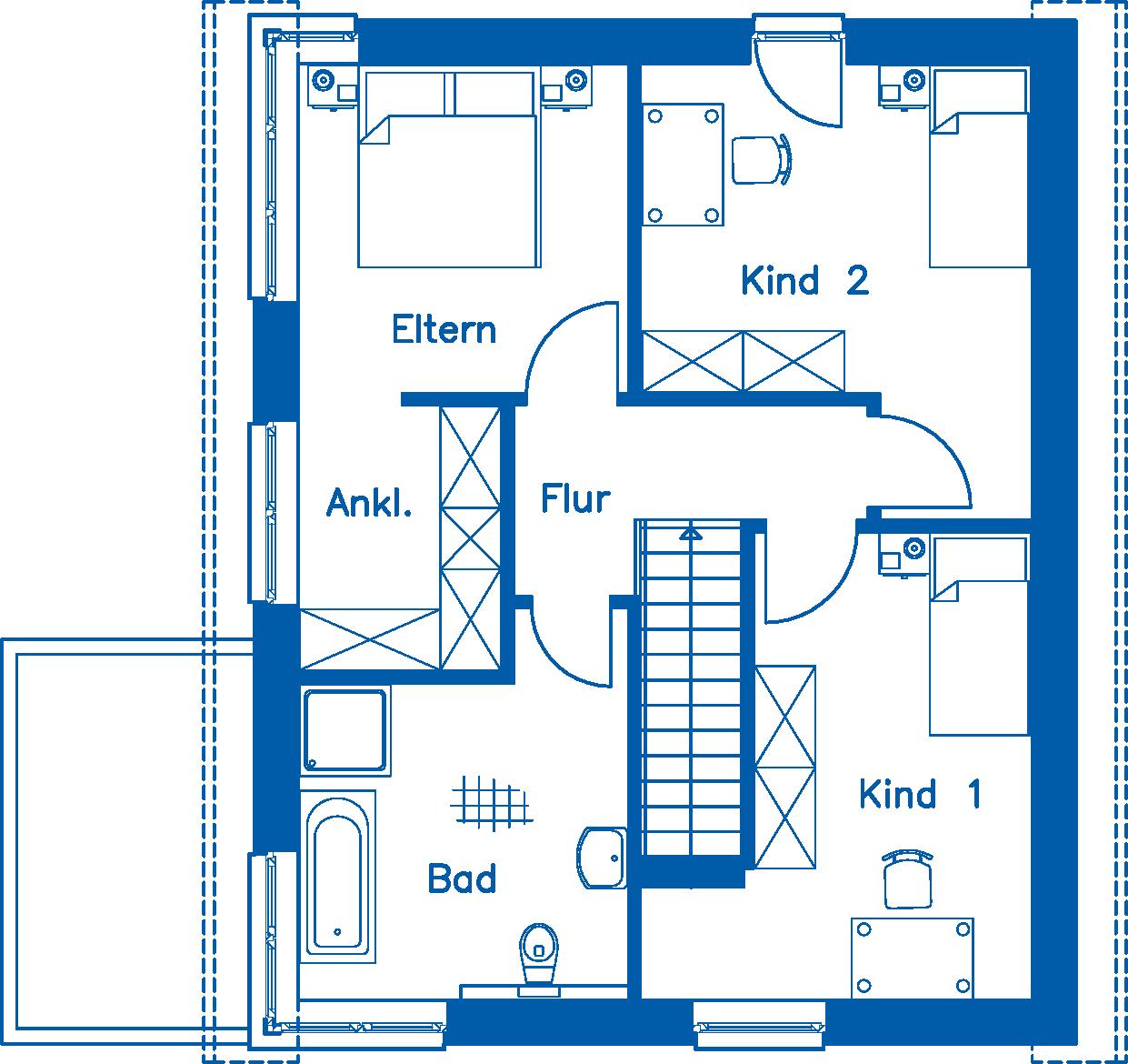 Grundriss Dachgeschoss EH 125 M