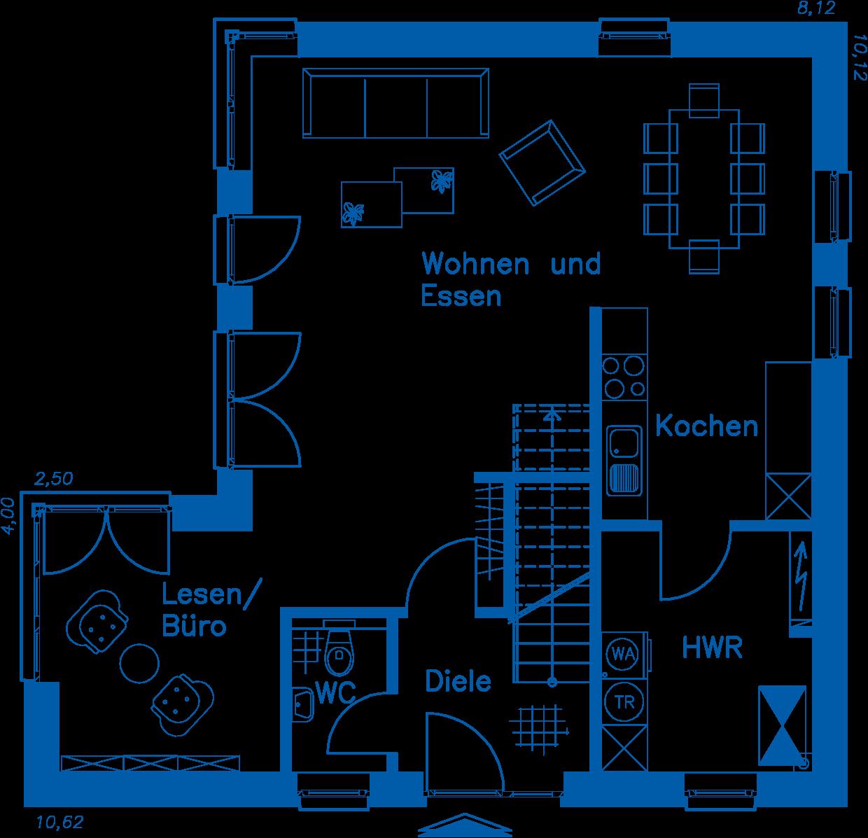 Grundriss Erdgeschoss EH 125 M
