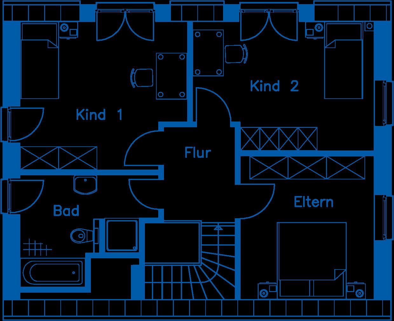 Grundriss Erdgeschoss EH 125 T