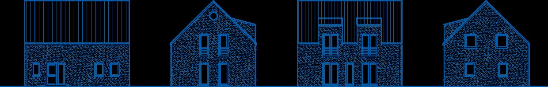 Abbildung Hausansichten EH 125 T