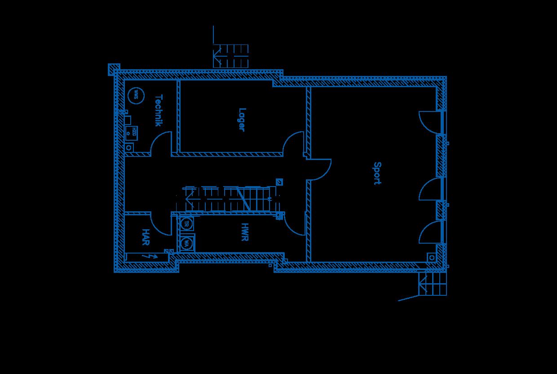 Grundriss Kellergeschoss PN1655