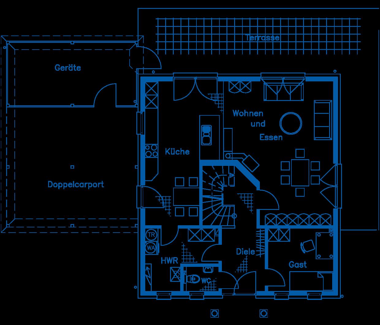 Grundriss Erdgeschoss Haus Hagedorn PN1276
