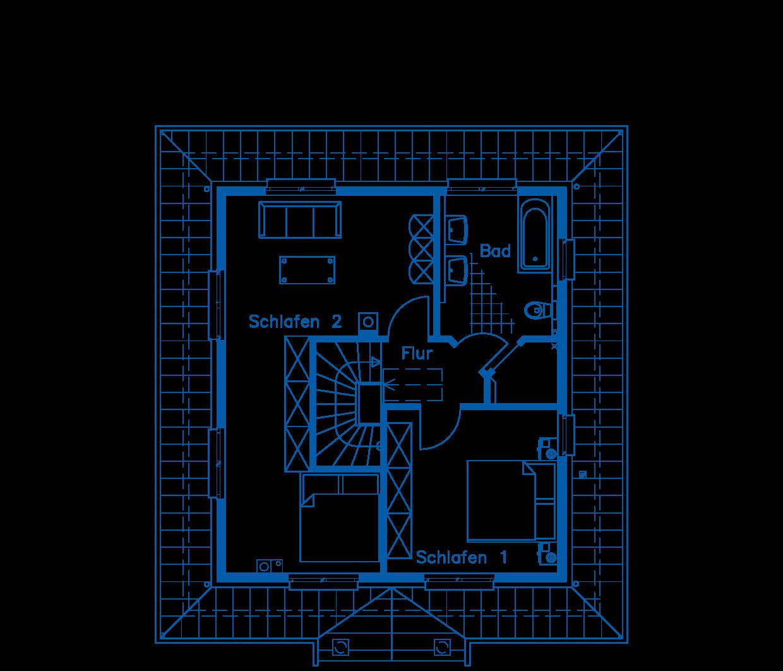 Grundriss Obergeschoss Haus Hagedorn PN1276