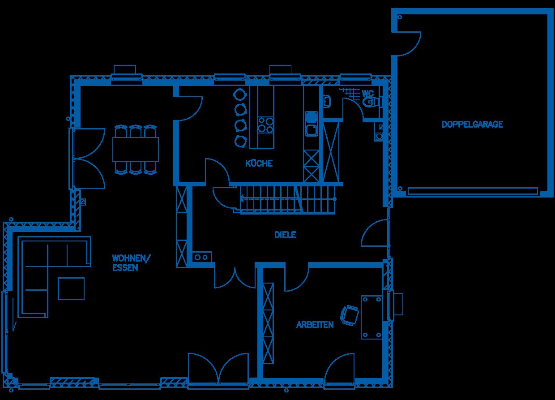 Grundriss Erdgeschoss Haus Jakobi PN1845
