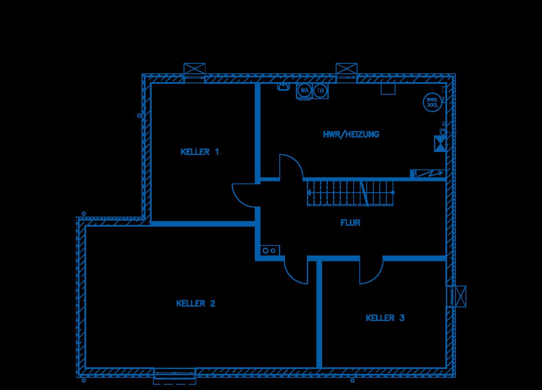 Grundriss Kellergeschoss Haus Jakobi PN1845