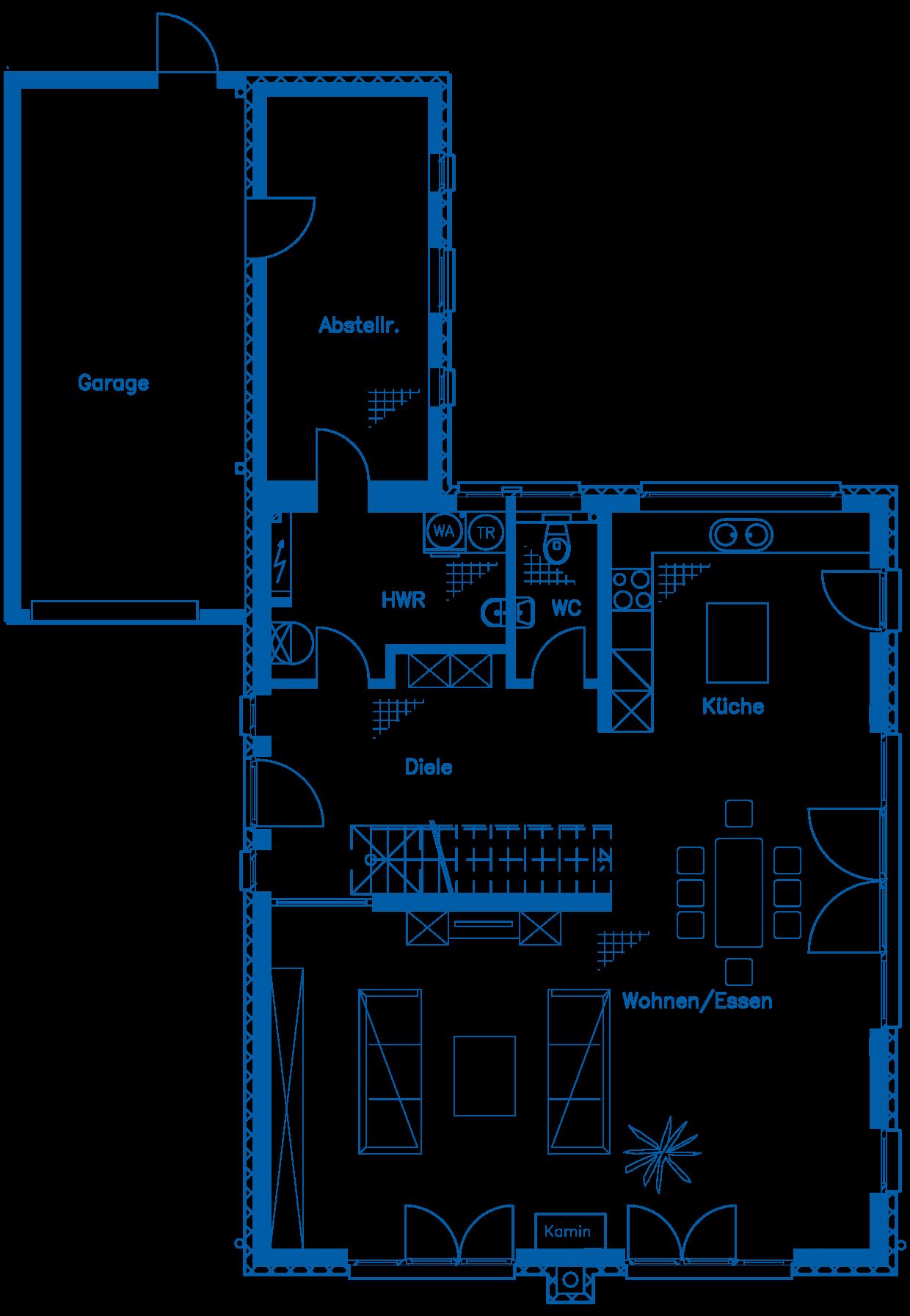 Grundriss Erdgeschoss Haus Ullrich PN1850