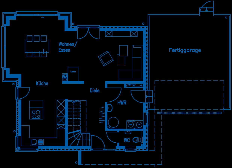Grundriss Erdgeschoss Haus Gehlen PN2320