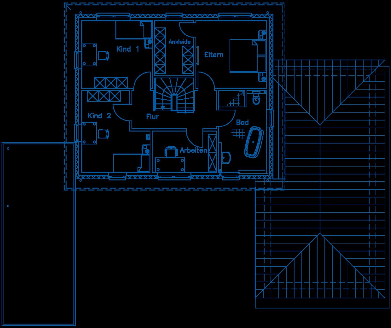 Grundriss Obergeschoss Haus Osthoff PN2355
