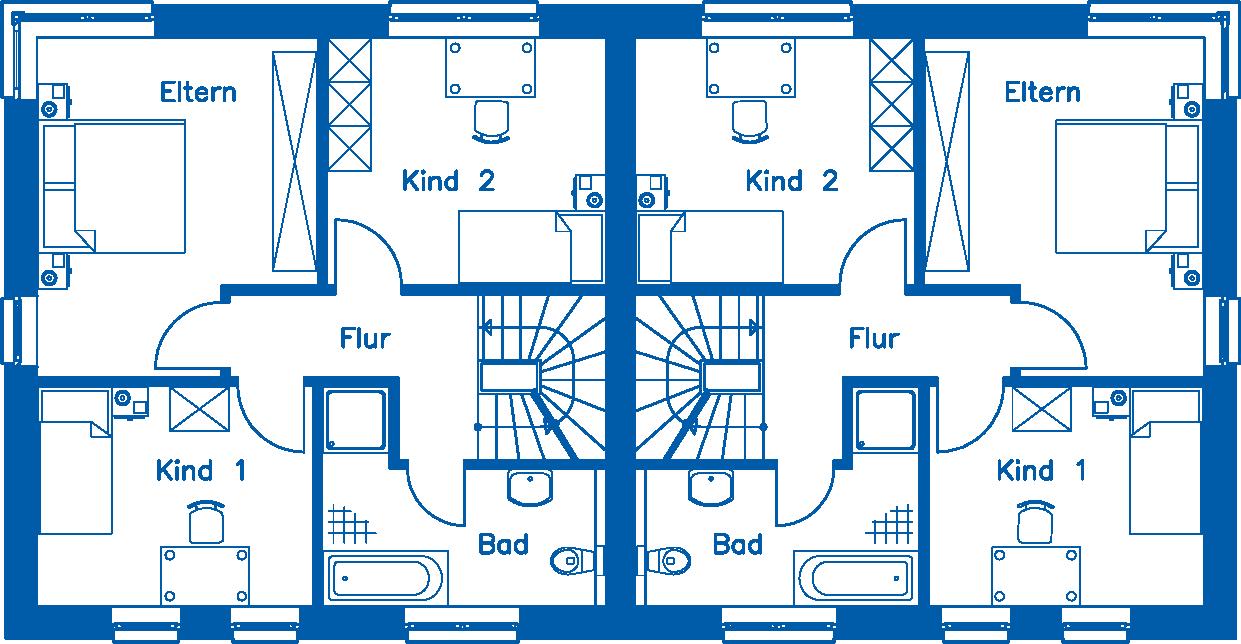 Grundriss 1. Obergeschoss DH 110 T