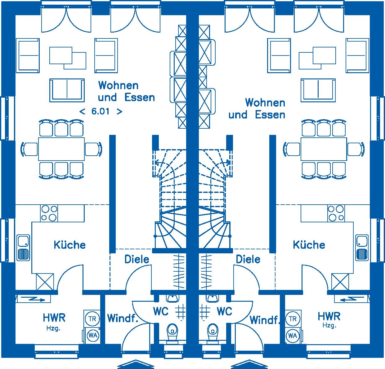Grundriss Erdgeschoss DH 130 Basis