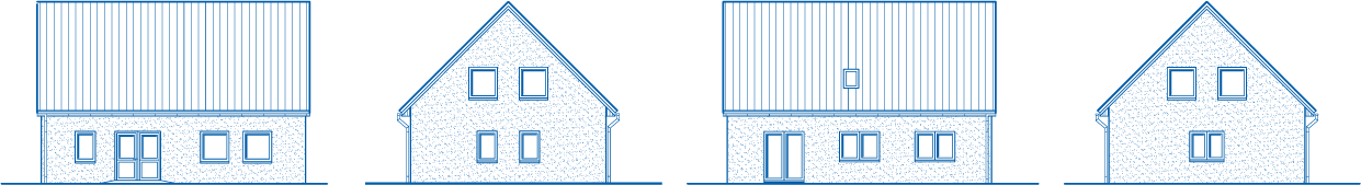 Abbildung Hausansichten EH 155 Basis