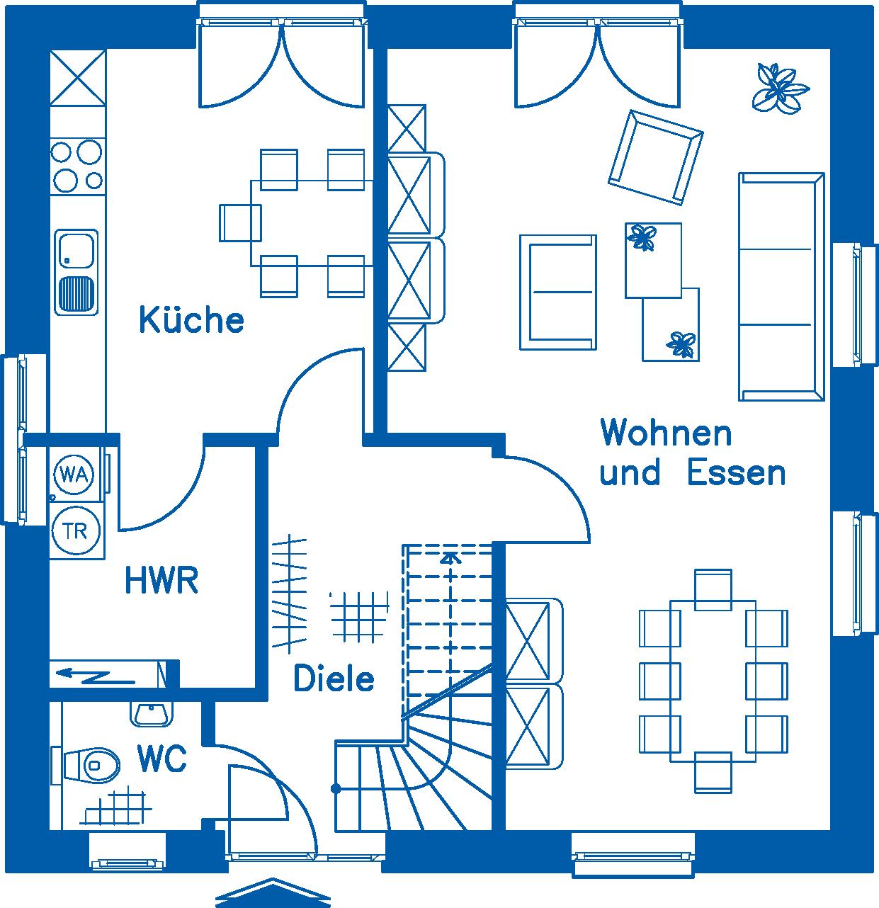 Grundriss Erdgeschoss SV 125 Basis