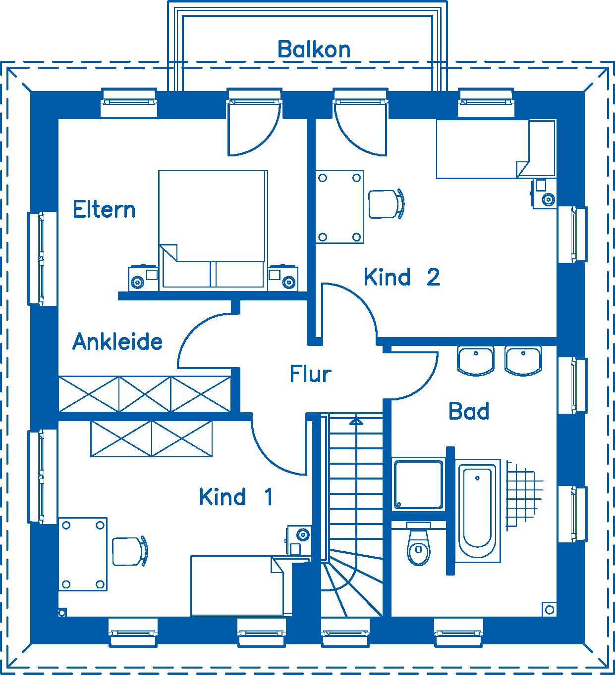 Grundriss Obergeschoss SV 125 K
