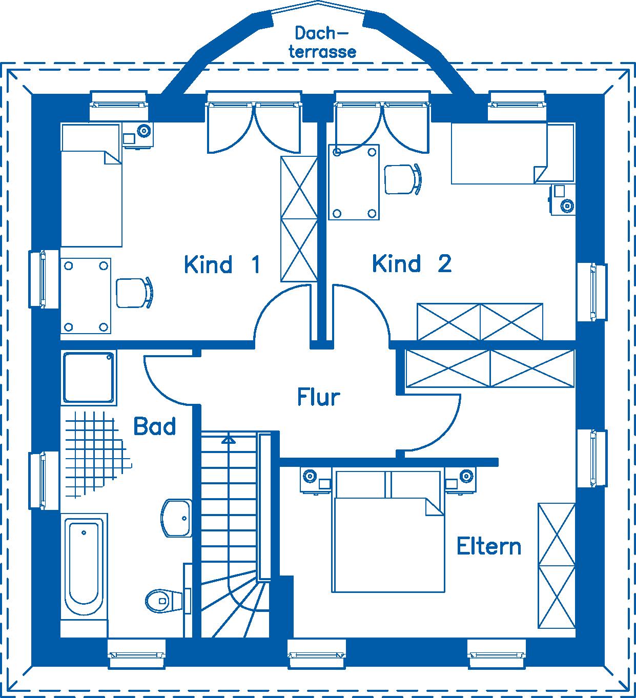 Grundriss Obergeschoss SV 125 M