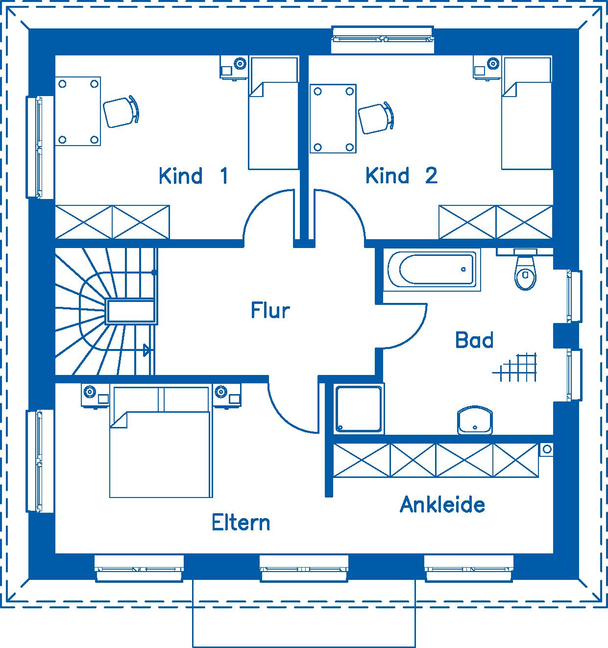 Grundriss Obergeschoss SV 140 K