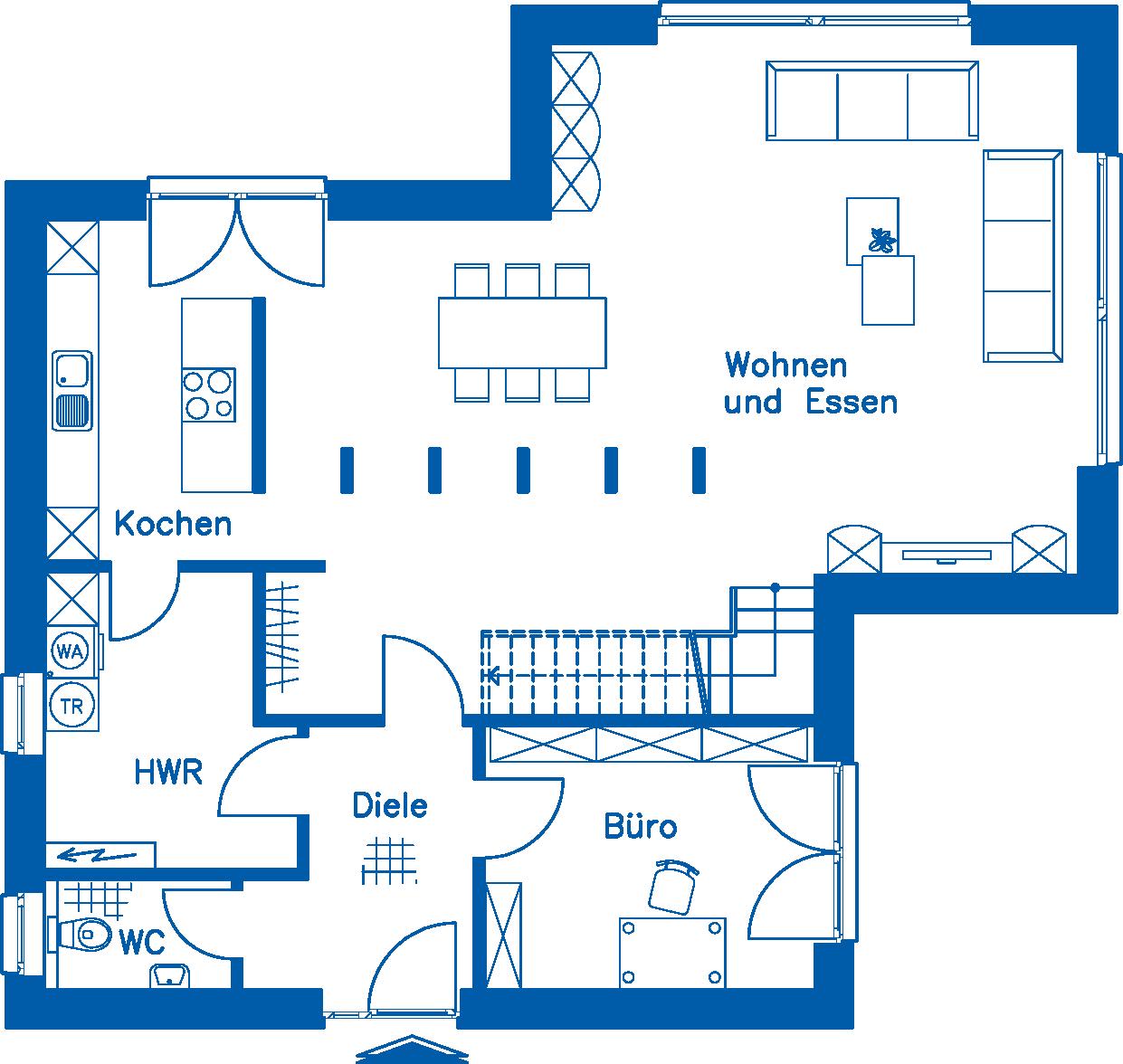 Grundriss Erdgeschoss SV 140 M