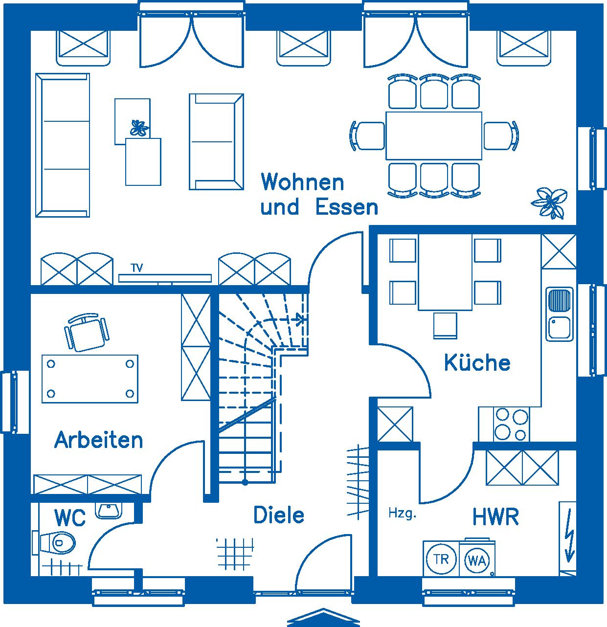 Grundriss Erdgeschoss SV 155 Basis