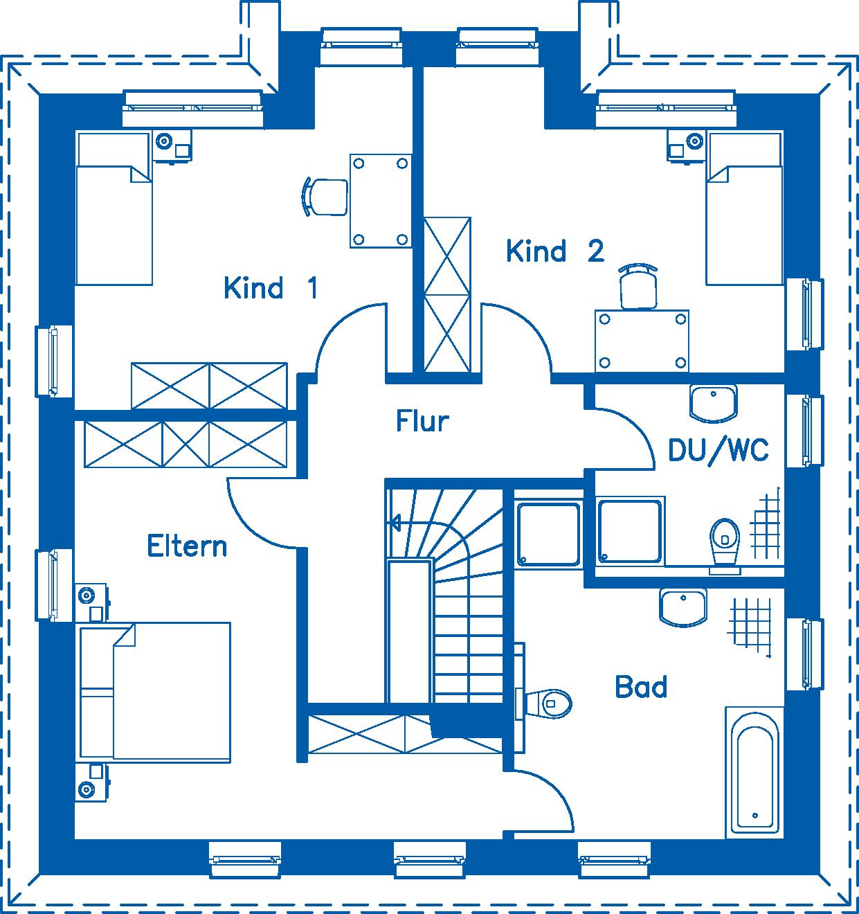 Grundriss Obergeschoss SV 155 K
