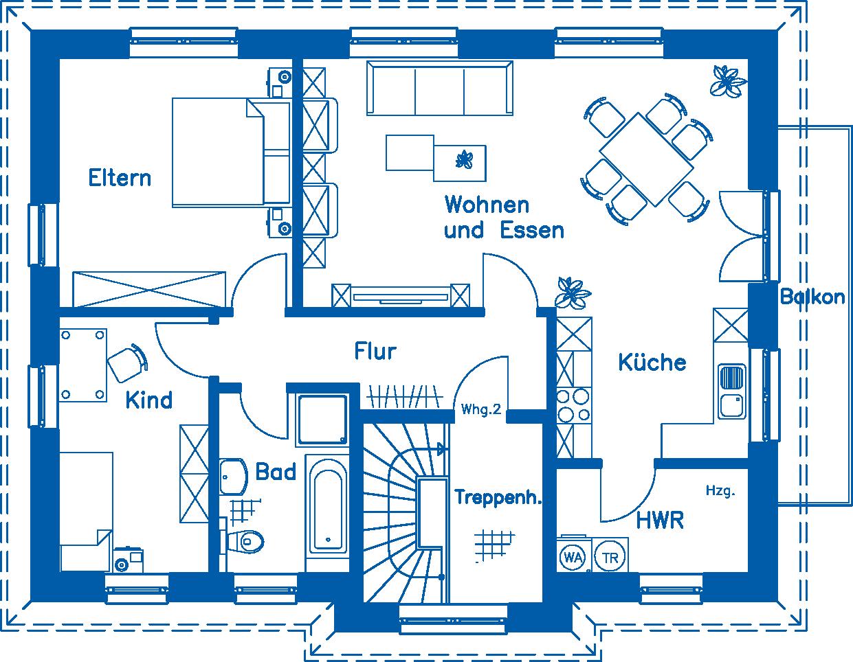 Grundriss Obergeschoss ZH 185 Basis