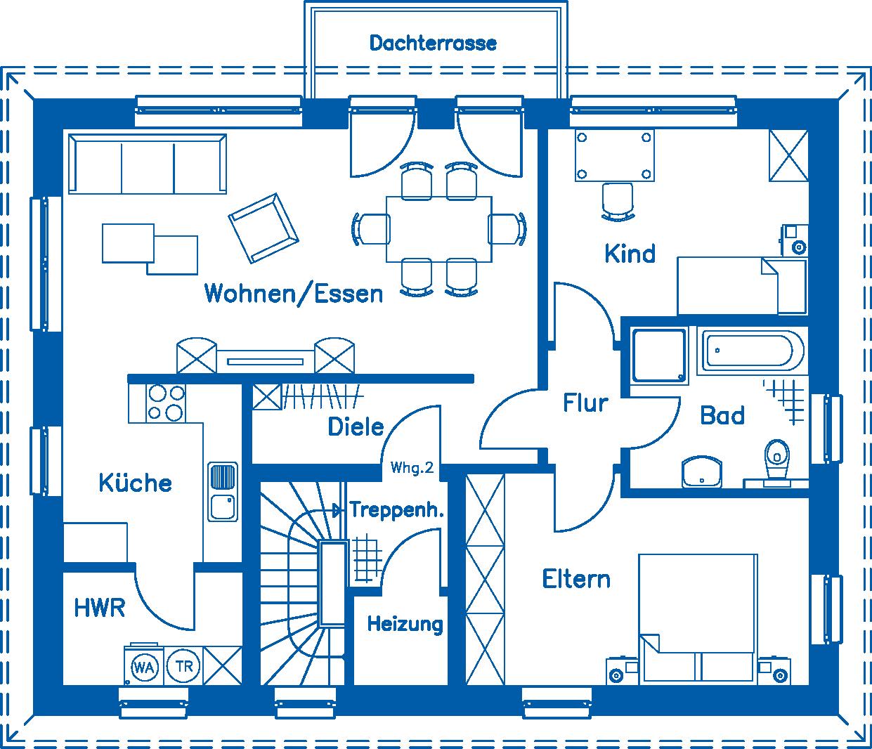 Grundriss Obergeschoss ZH 185 M