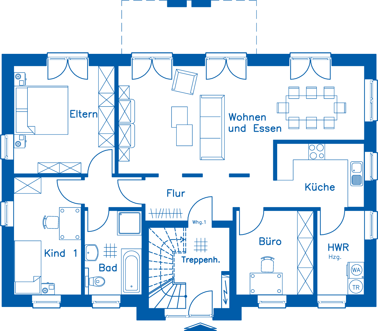 Grundriss Erdgeschoss ZH 210 M