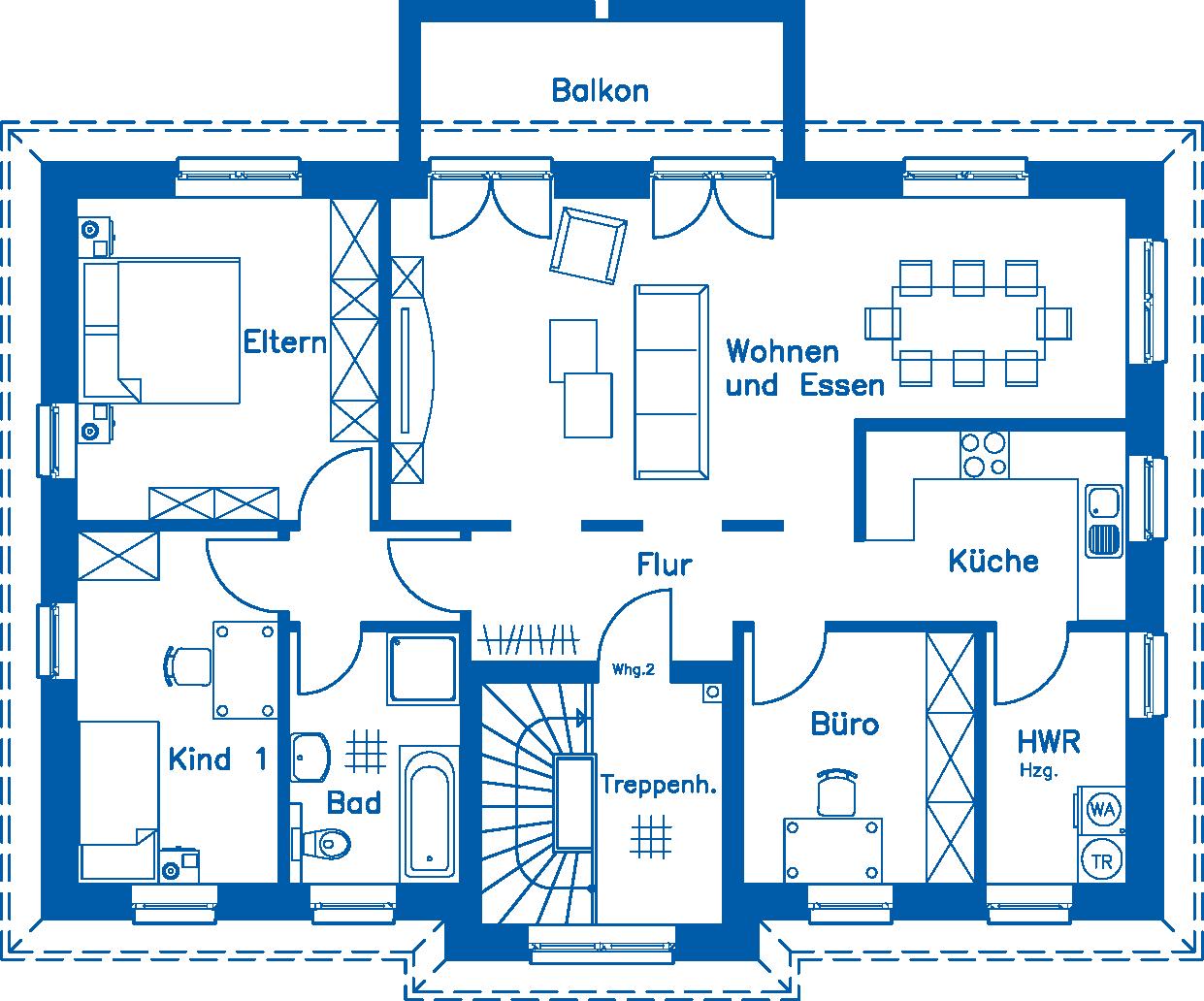Grundriss Obergeschoss ZH 210 M