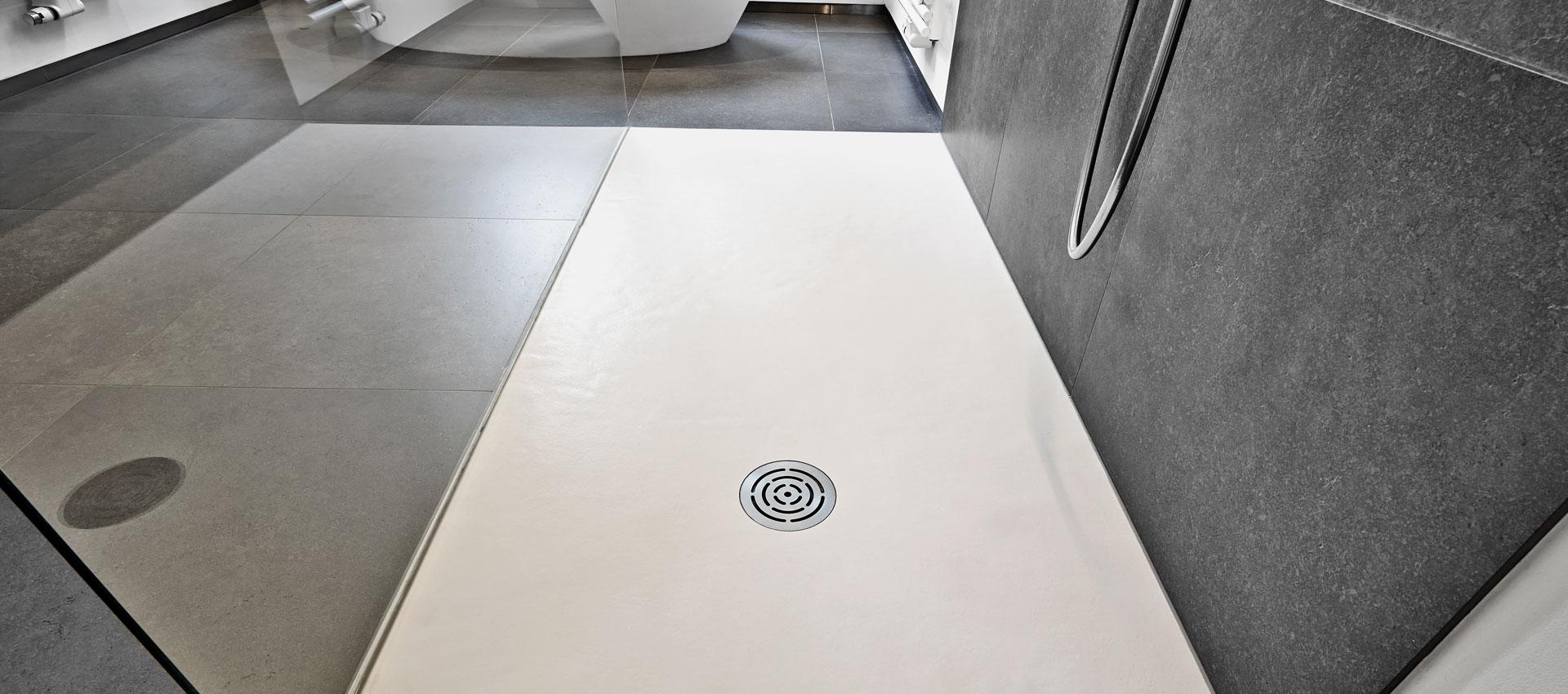 Abbildung einer begehbaren Dusche