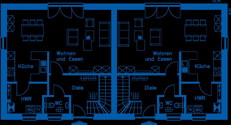 Grundriss Erdgeschoss DH 110 Basis