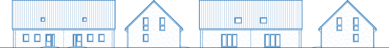 Abbildung Hausansichten DH 110 Basis
