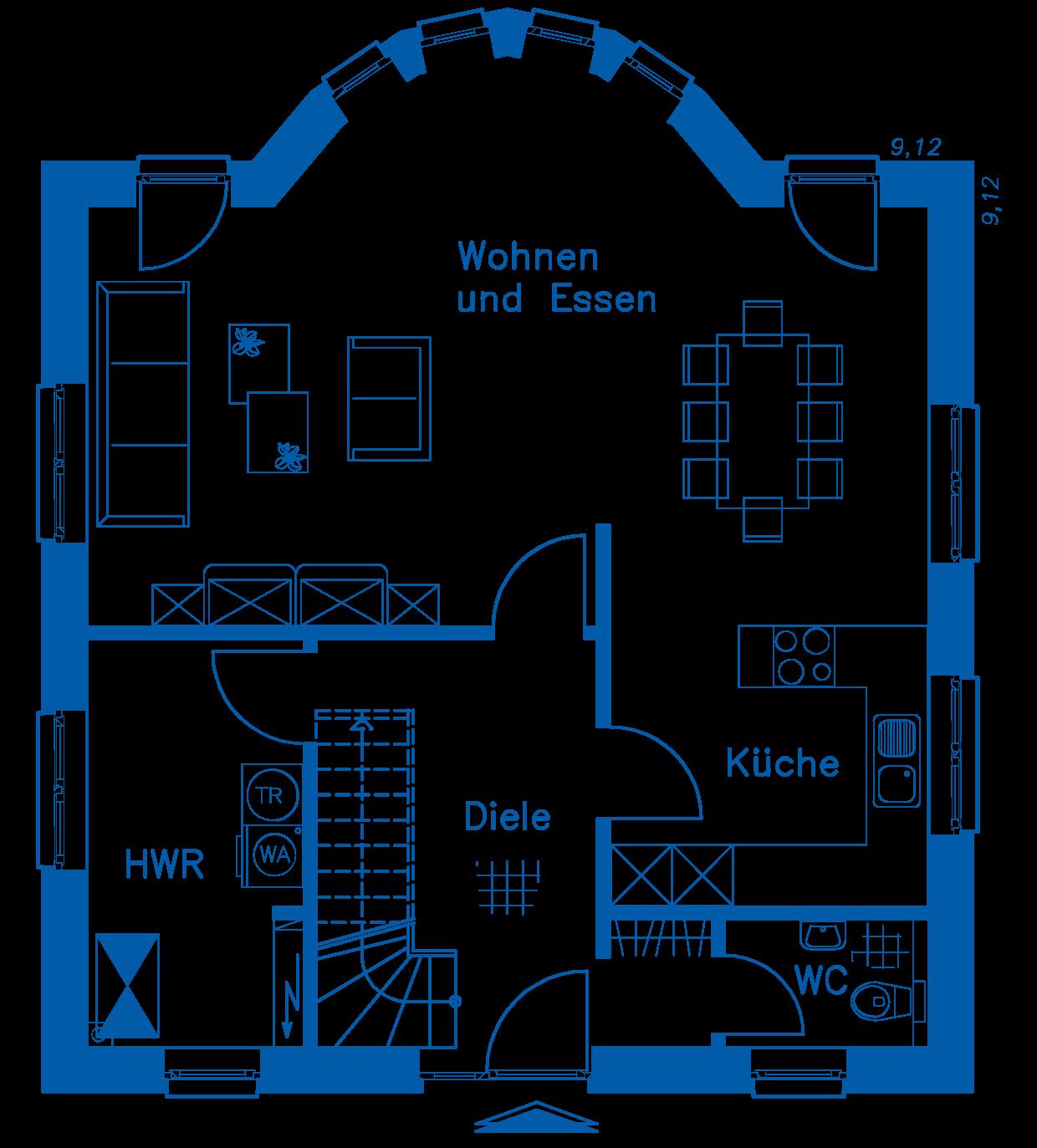 Grundriss Erdgeschoss SV 125 K