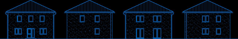 Abbildung Hausansichten SV 155 Basis