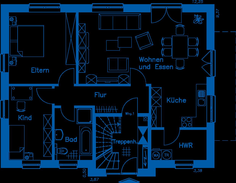 Grundriss Erdgeschoss ZH 185Basis