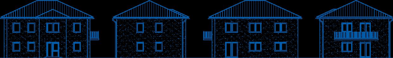 Abbildung Hausansichten ZH 185 Basis