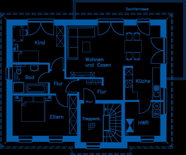 Grundriss Obergeschoss ZH 185 K