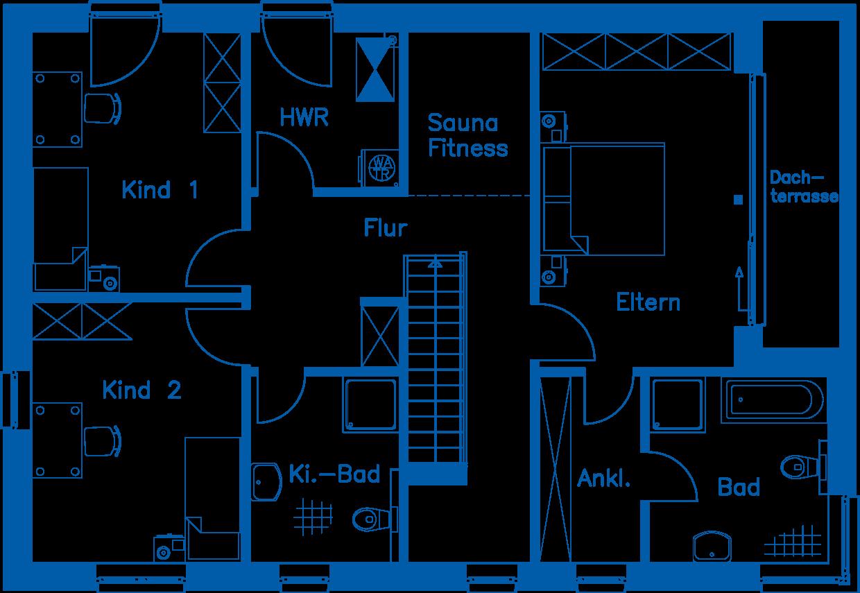 Grundriss Dachgeschoss ZH 200 T