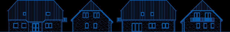 Abbildung Hausansichten ZH 210 Basis