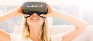 Abbildung Frau mit VR-Brille