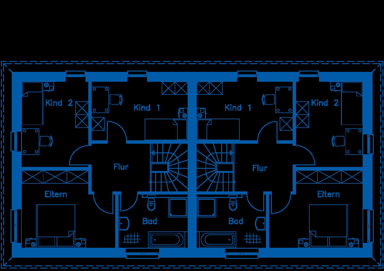 Grundriss Obergeschoss DH 110 M