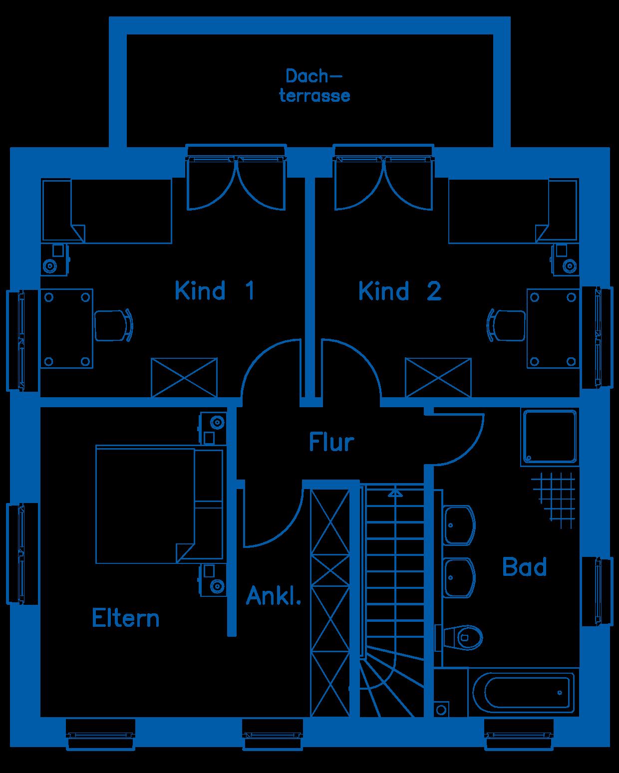 Grundriss Obergeschoss SV 125 T