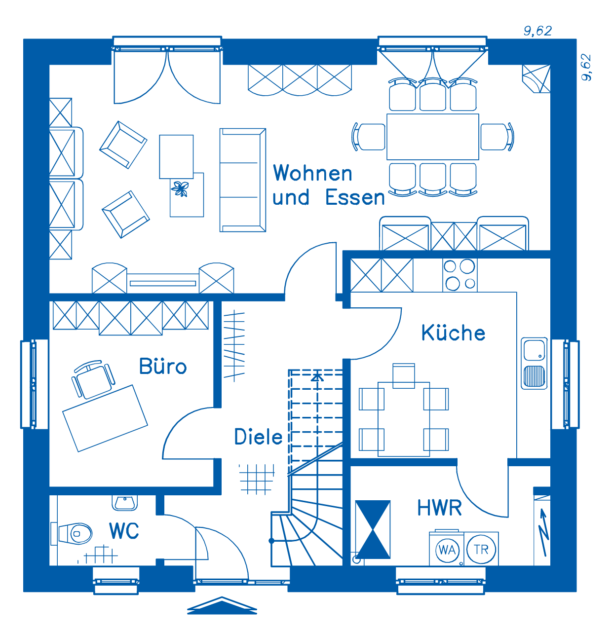 Grundriss Erdgeschoss SV 140 Basis