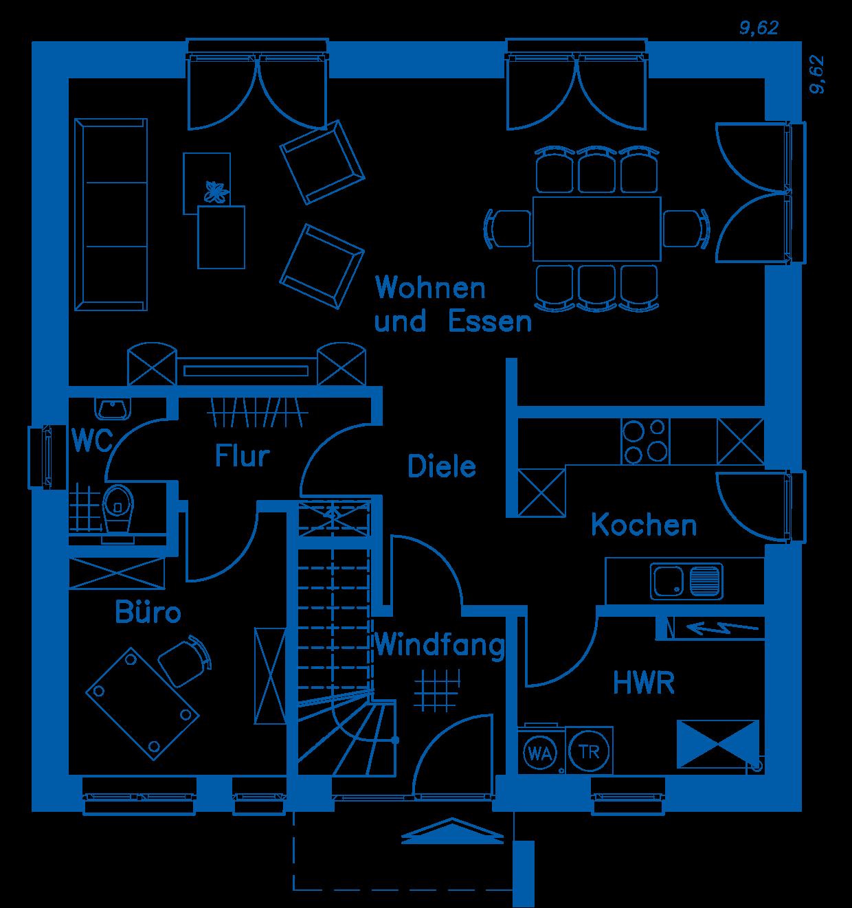 Grundriss Erdgeschoss SV 140 T