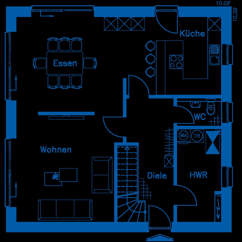 Grundriss Erdgeschoss SV 155 M