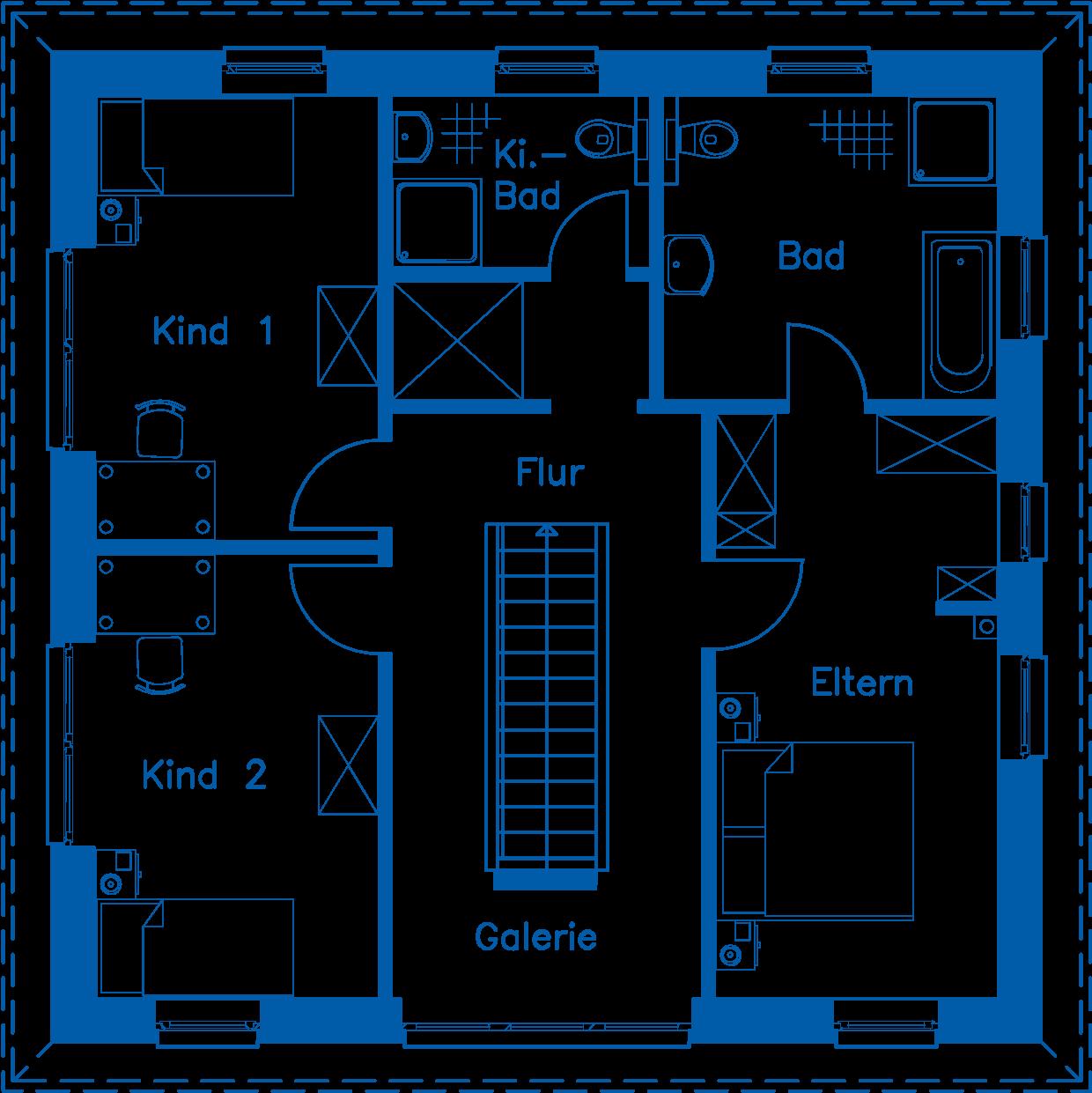Grundriss Obergeschoss SV 155 T