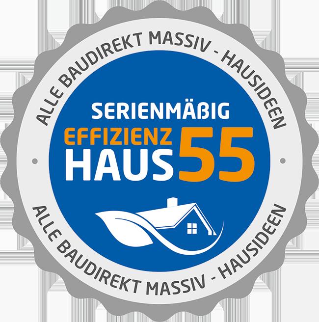 Abbildung Siegel Effizienzhaus 55